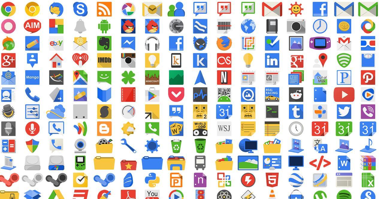Varios iconos para Android