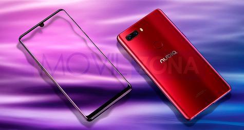 Nubia Z18 rojo y pantalla