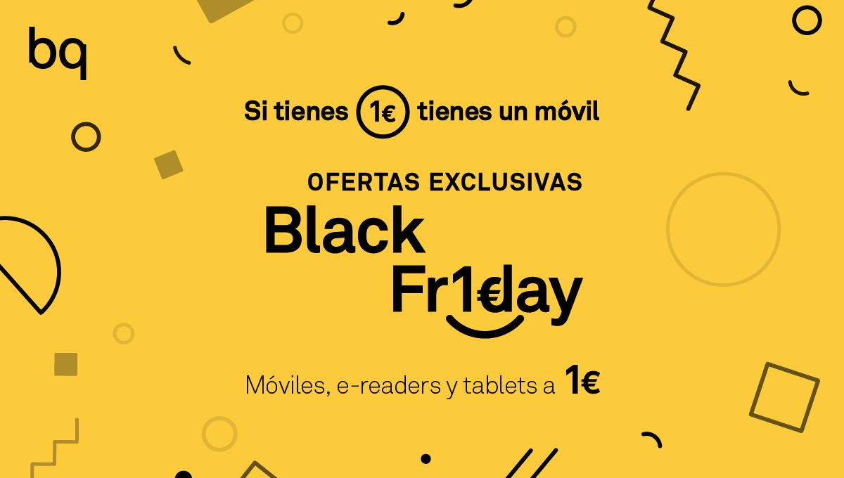 bq ofrecerá dispositivos a 1€ en black friday