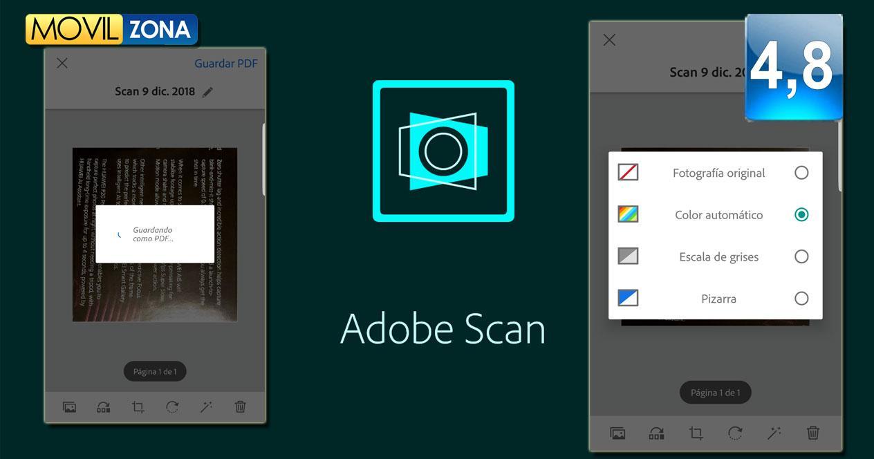 Aplicación Adobe Scan: digitalizador de PDF
