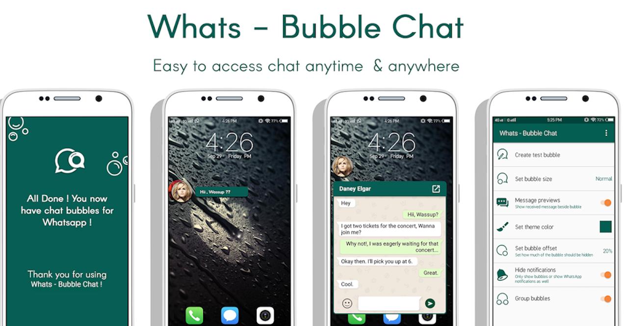burbujas whatsapp