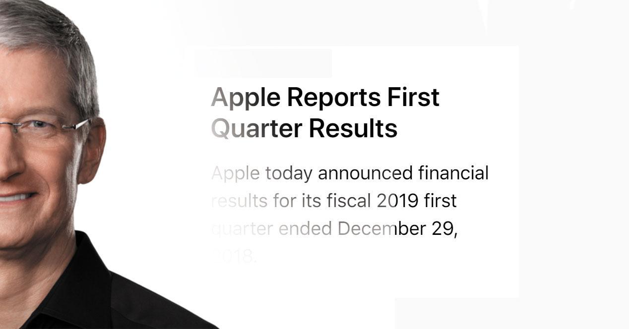 Tim Cook Apple resultados