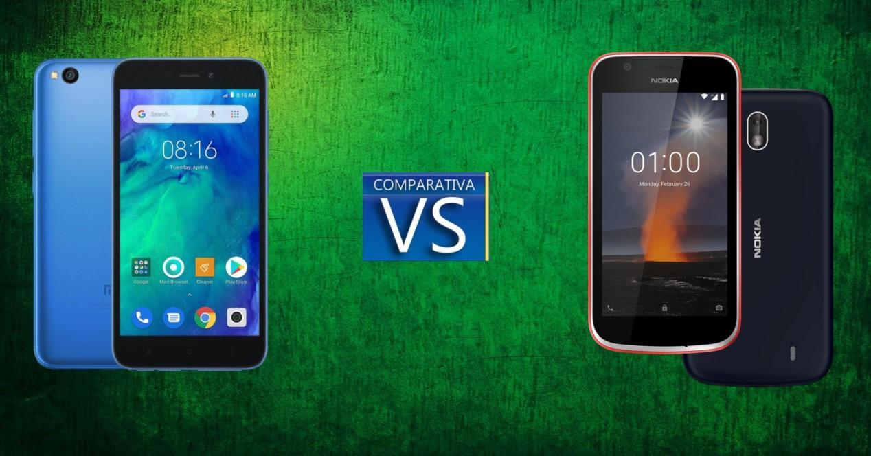 Comparativa Redmi Go Nokia 1