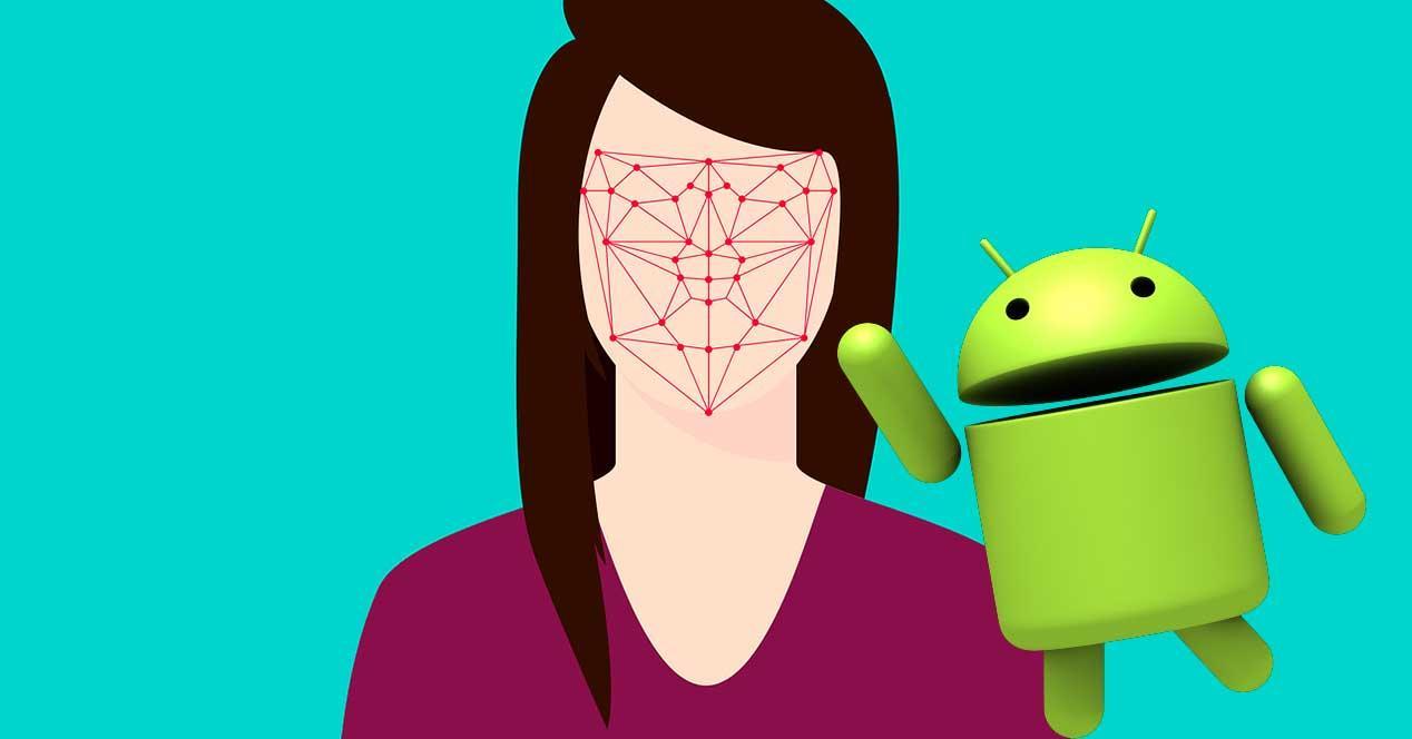 reconocimiento facial de Android Q