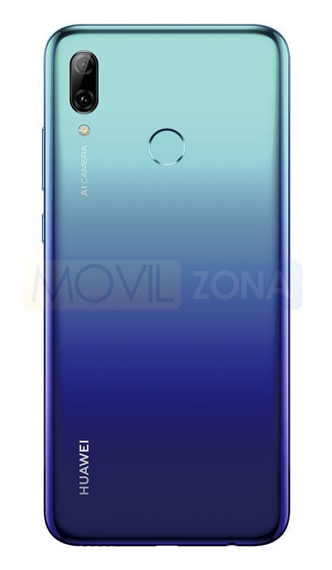 Huawei P Smart 2019 azul cámara y huella dactilar