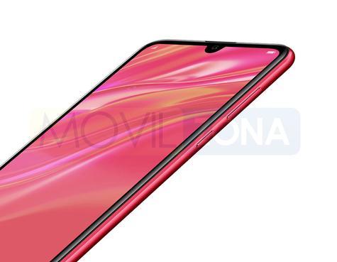 Huawei Y7 Pro 2019 rojo pantalla