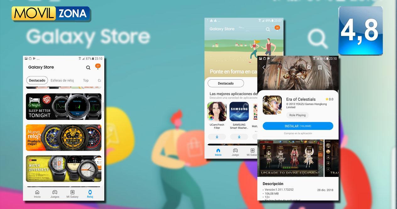 Tienda Galaxy Store de Samsung