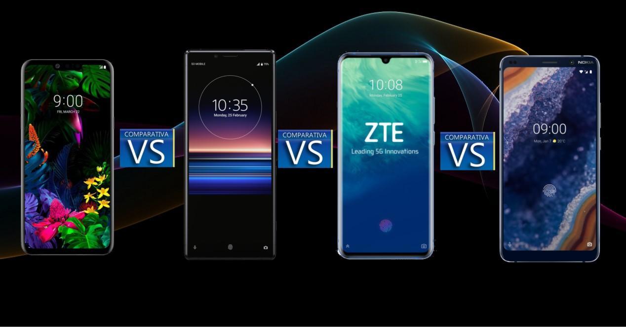 Comparativa G8 Xperia 1 Axon 10 Pro 5G Nokia 9