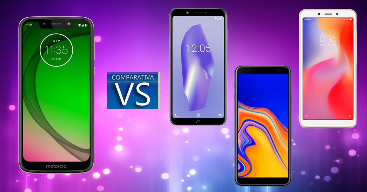 Comparativa Moto G7 Play Aquaris C Galaxy J4 Plus y Redmi 6