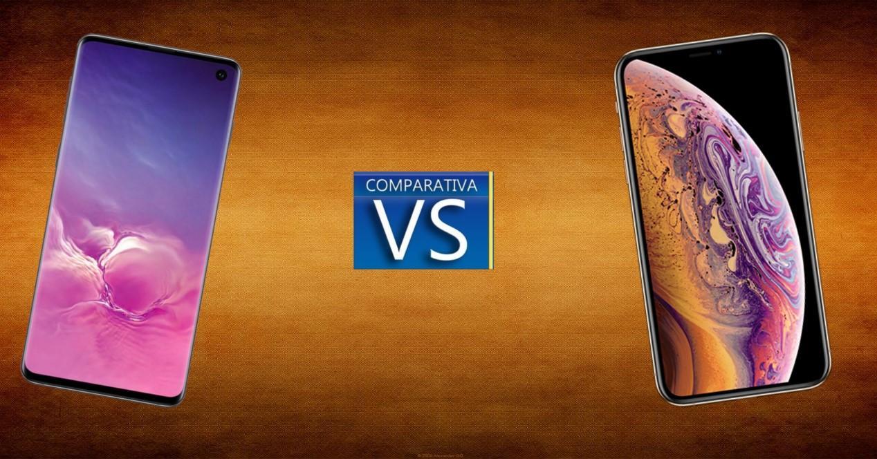 Galaxy S10 vs iPhone XS Portada