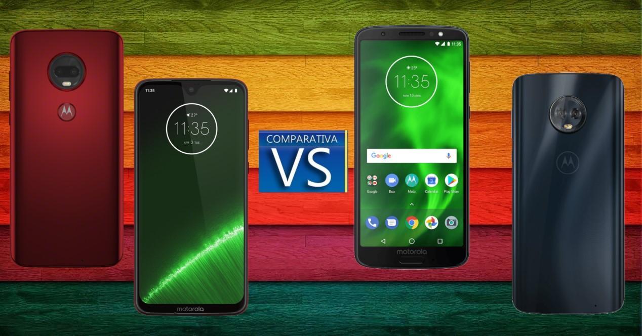 Moto G7 y G7 Plus vs Moto G6 y G6 Plus compa portada