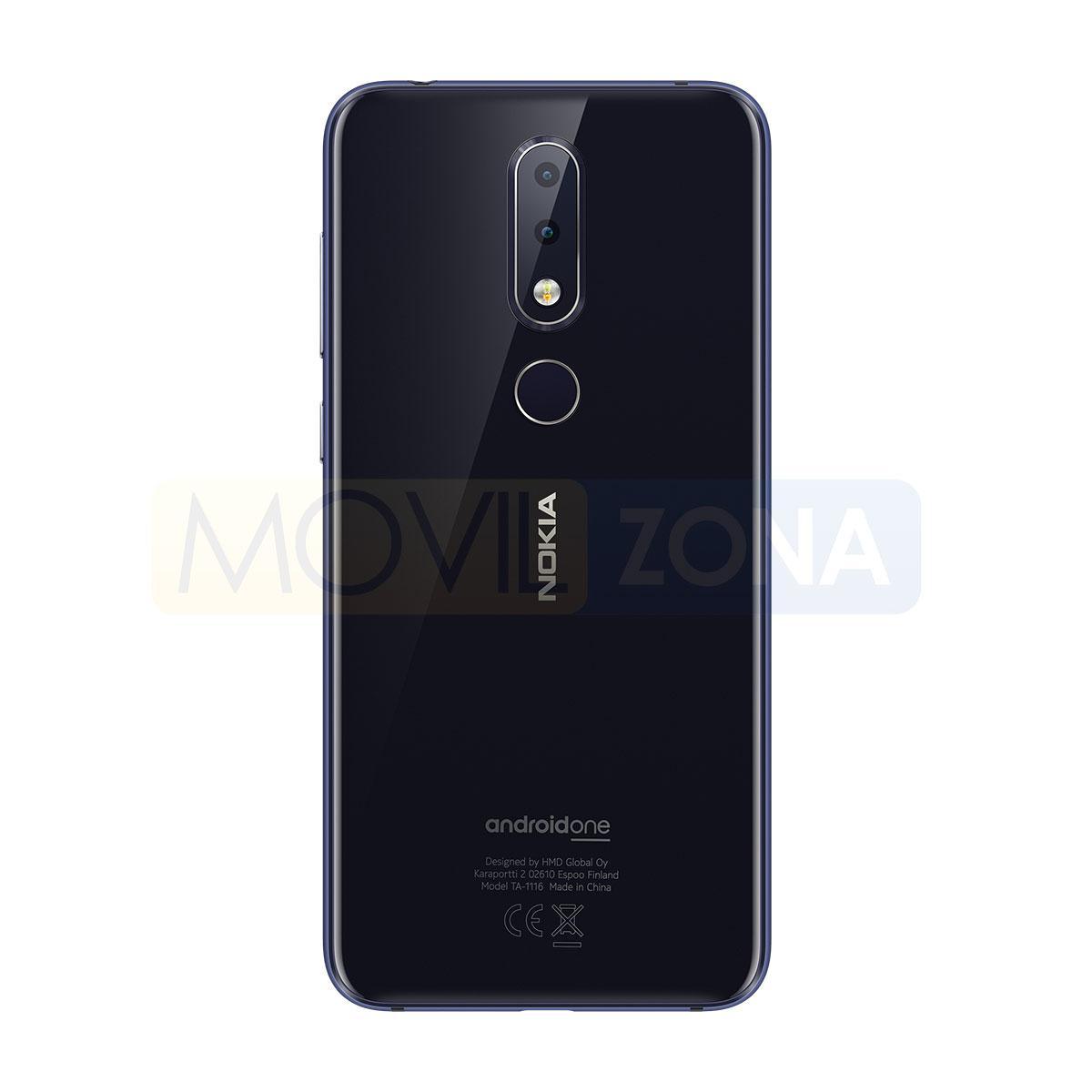 Nokia 6.1 Plus cámara negro