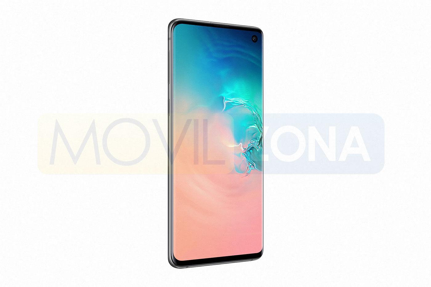 Samsung Galaxy S10 vista lateral