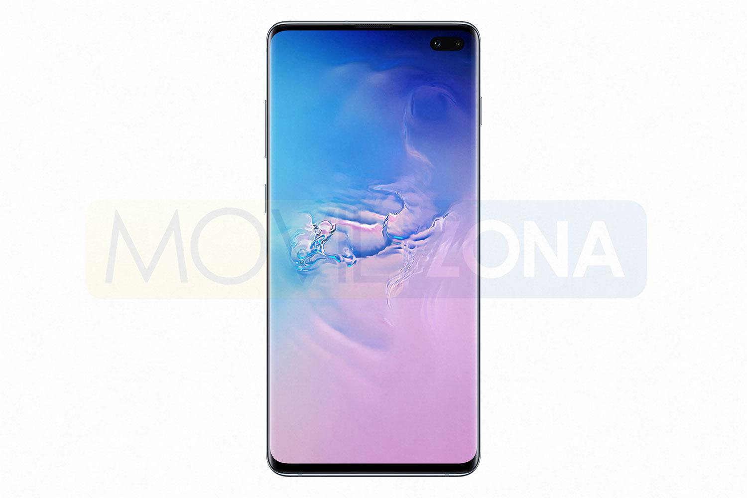Samsung Galaxy S10 Plus frontal con Android