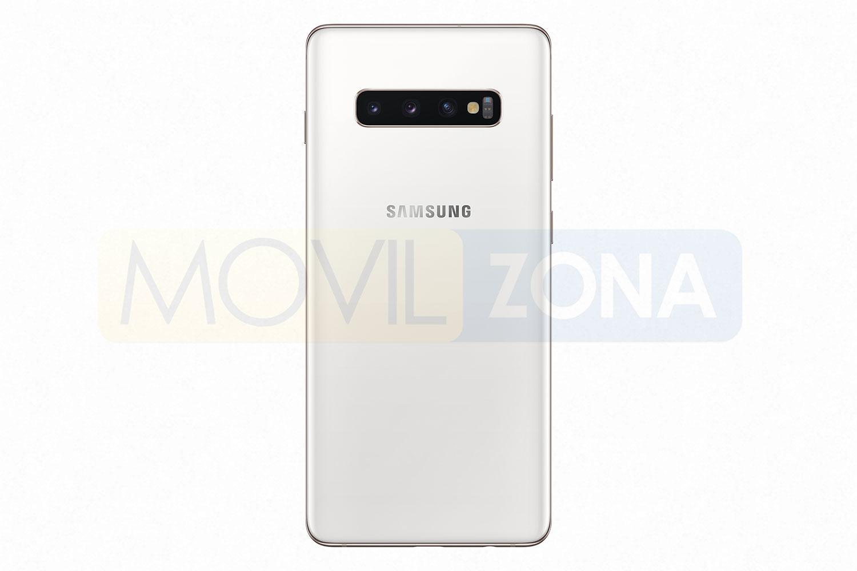 Samsung Galaxy S10 Plus plata con cámara