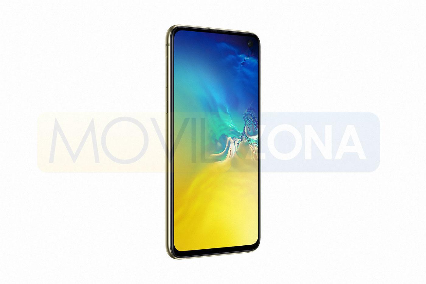Samsung Galaxy S10e amarillo vista lateral