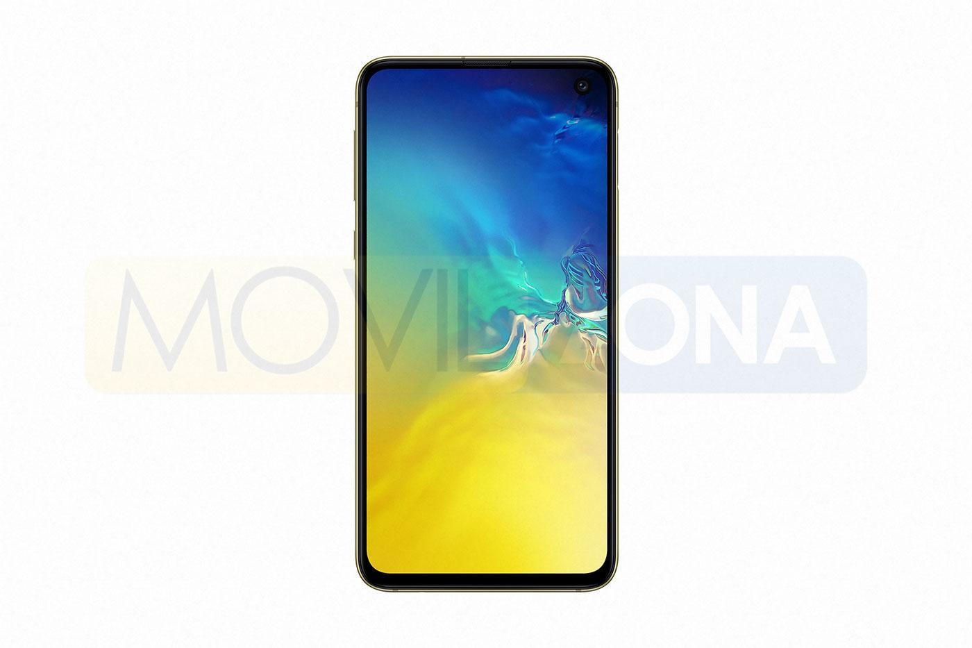 Samsung Galaxy S10e frontal color amarillo