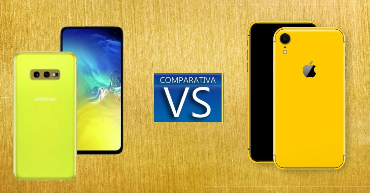 galaxy s10e vs iphone xr comparativa