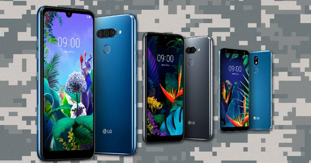 LG Q60 LG K50 y LG K40 con camuflaje militar