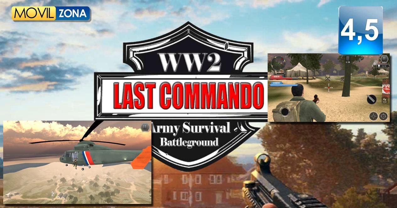 Juego para Android WW2 Last Commando Survival
