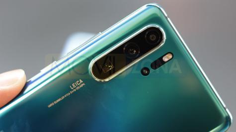 Huawei P30 Pro detalle de la cámara