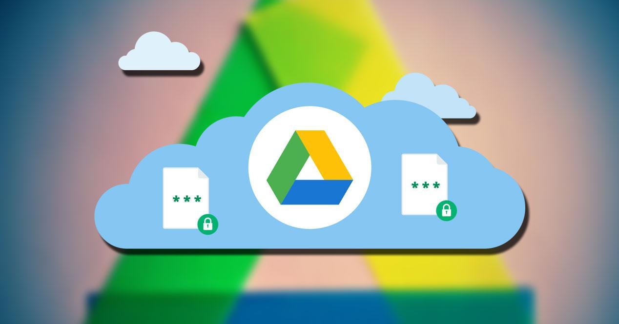 Logotipo de Google Drive con nubes