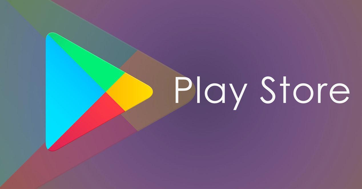 Logotipo Play Store con fondo morado