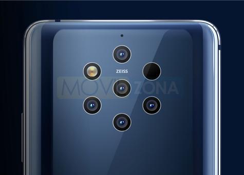 Nokia 9 PureView seis cámaras