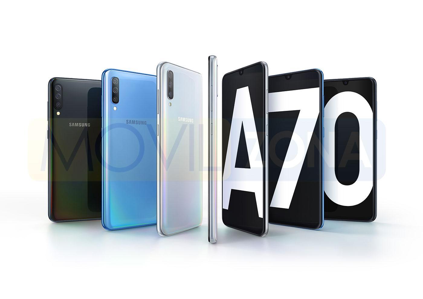 Samsung Galaxy A70 gama de colores