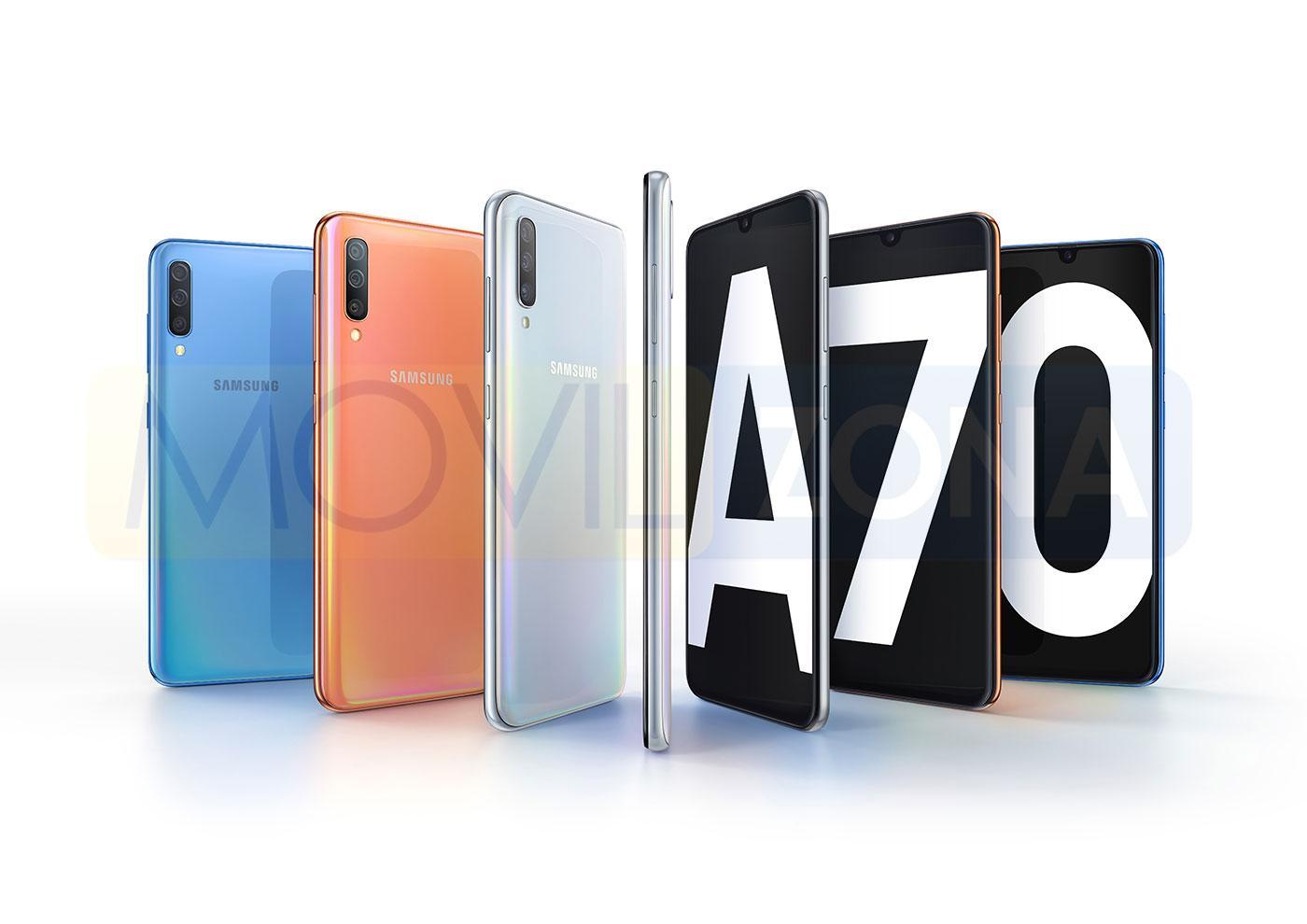 Colores Samsung Galaxy A70