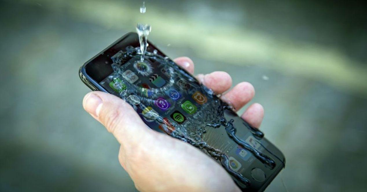 iphone xi agua