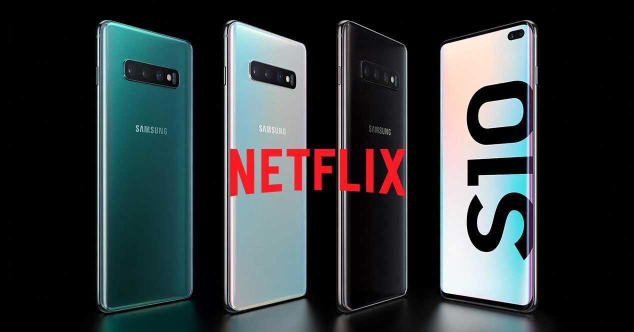 Netflix en el Samsung Galaxy S10