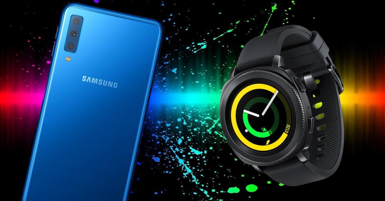 Galaxy A7 y Gear Sport portada