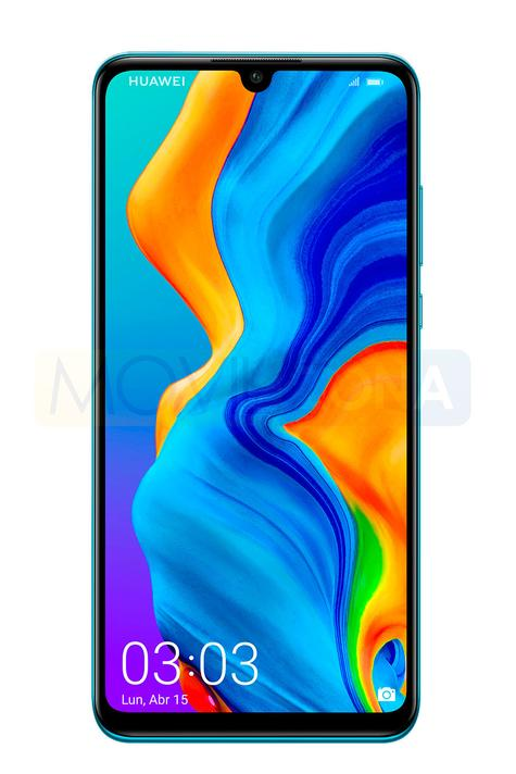 Huawei P30 Lite azul frontal display