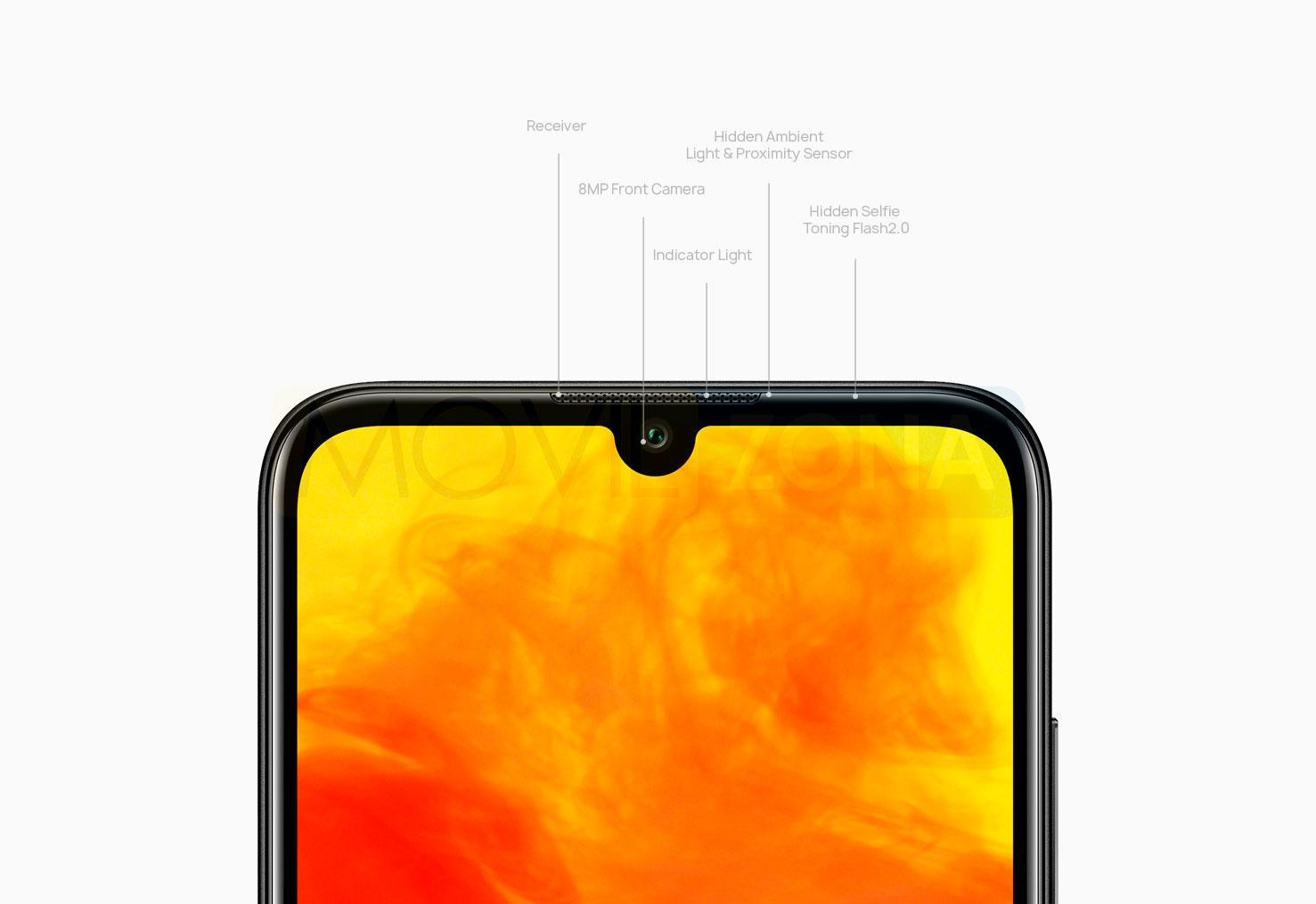Huawei Y6 2019 detalles de la cámara