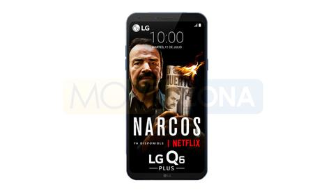 LG Q6 Plus negro frontal