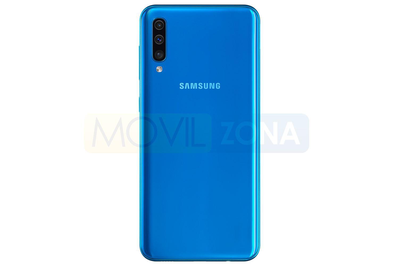 Samsung Galaxy A50 azul cámara
