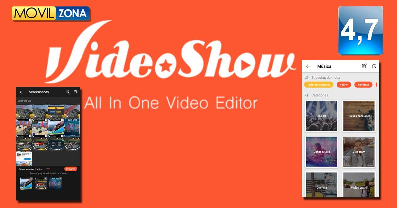 Aplicación VideoShowLite