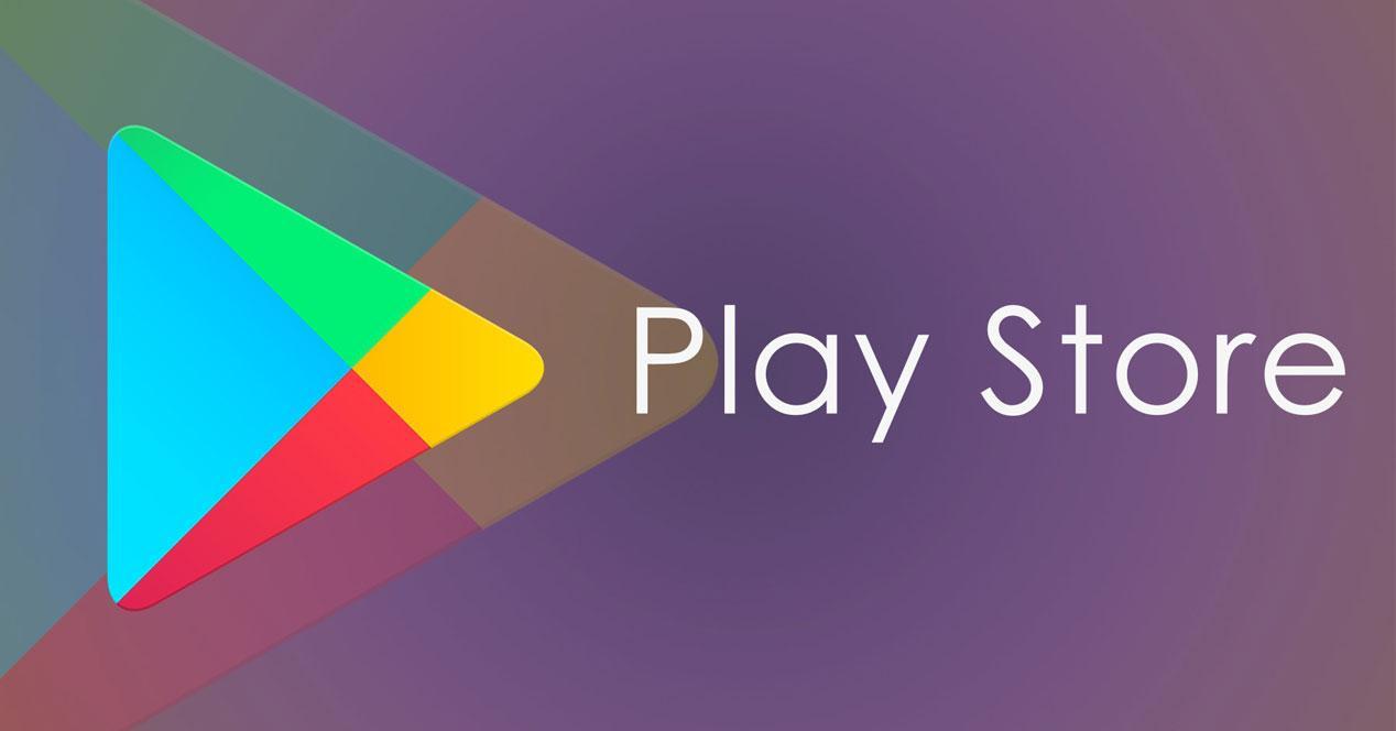 Logotipo de Play Store con fondo morado