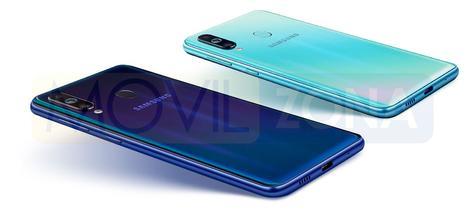 Samsung Galaxy M40 azul y azul claro