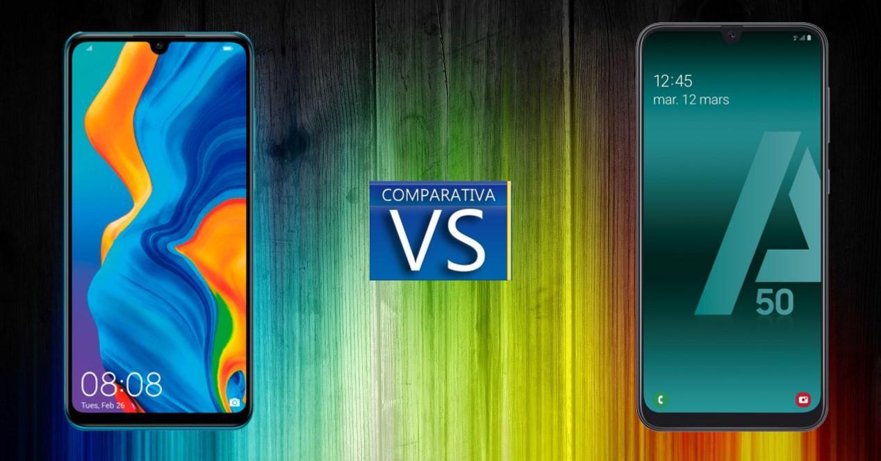 Comparativa Huawei P30 Lite vs Galaxy A50