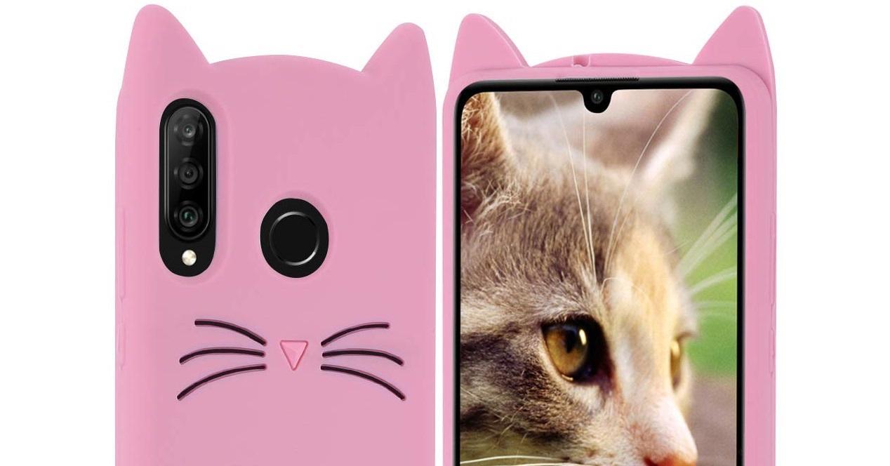 Huawei P30 Lite funda gato
