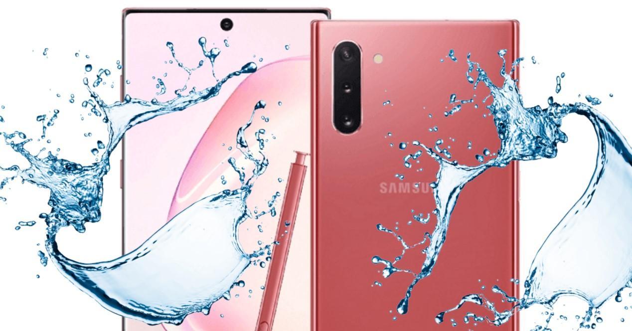 Samsung Galxy Note 10 Rosa agua