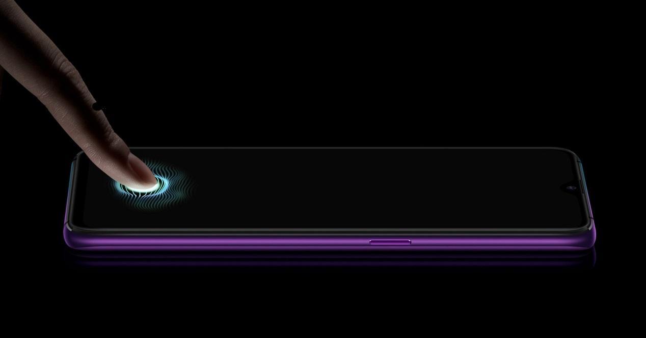Sensor huella en pantalla