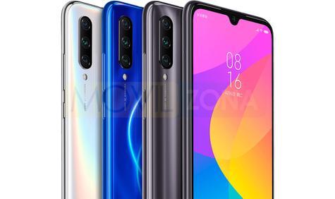 Xiaomi CC9e blanco, azul y negro