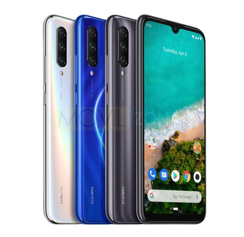 Xiaomi Mi A3 blanco, azul y negro