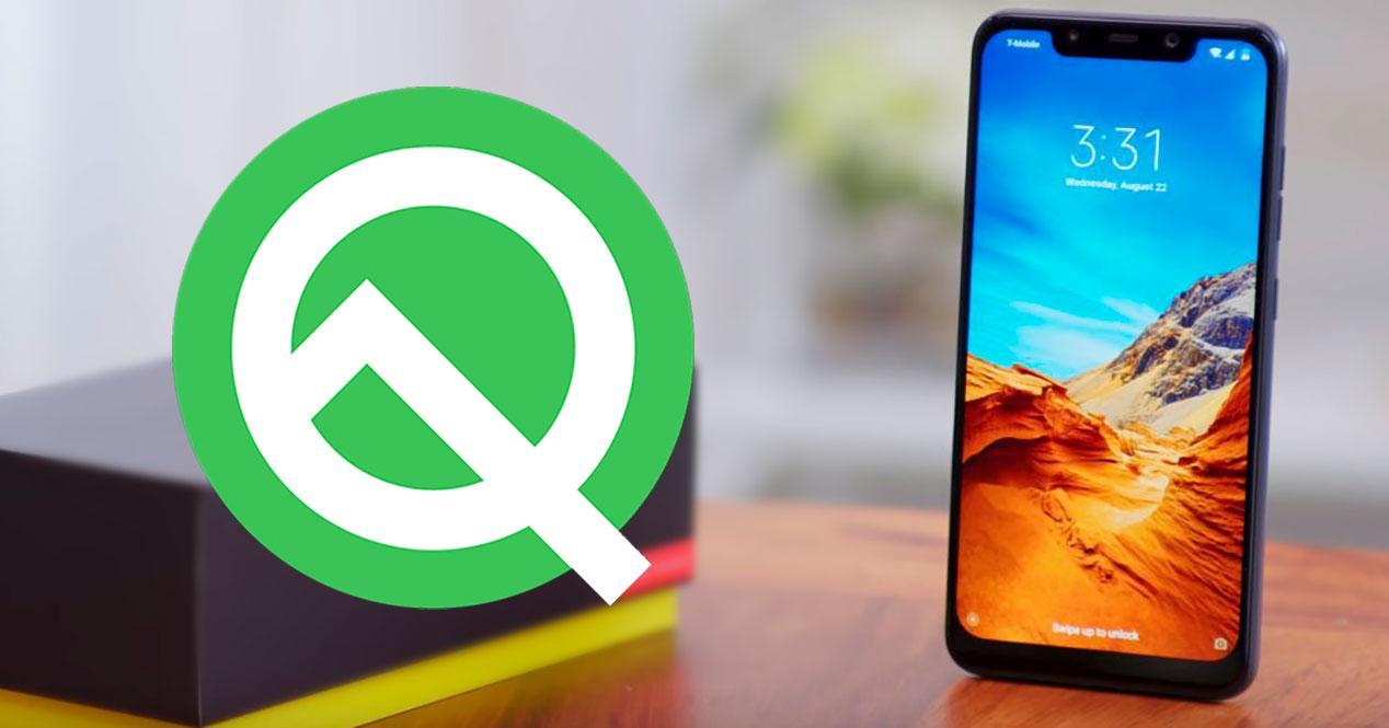 pocophone f1 android Q