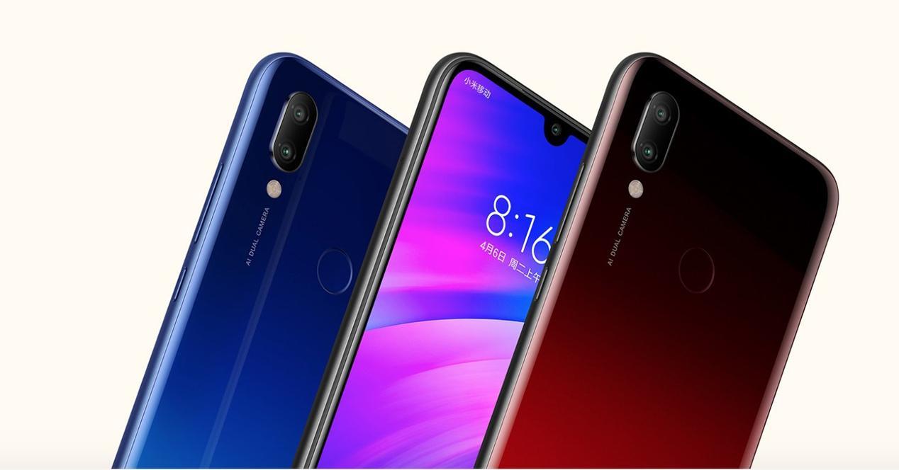 Frontal y trasera del Xiaomi Redmi 7