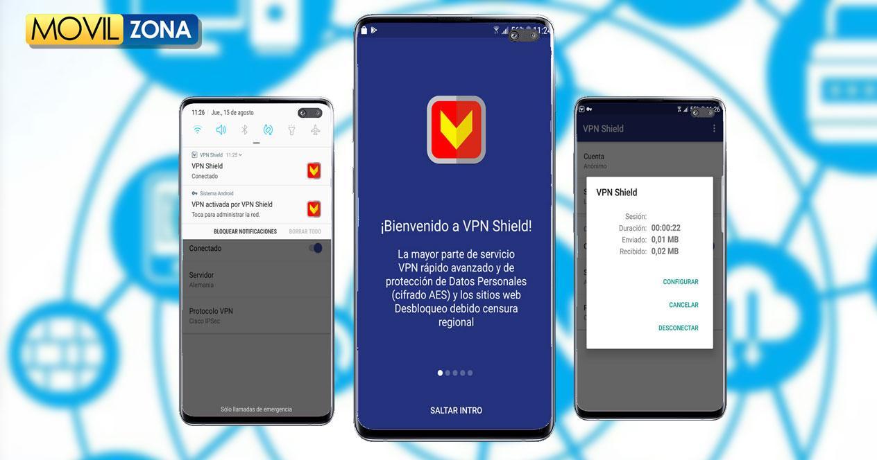 Aplicación VPN Shield