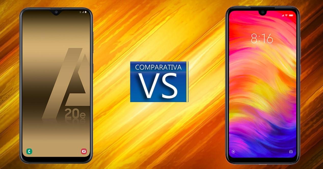 Galaxy A20e vs Xiaomi Redmi Note 7